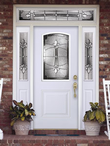 Image of 2 Panel Soft Arch High Def Door Exterior Image from Samuel Stamping