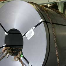 Image of Coil ready for transport at Samuel Stamping