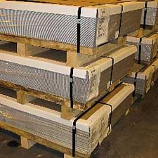 Image of Metal sheets ready-to-ship at Samuel Stamping